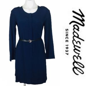 Madewell Navy Cargo Tunic Dress